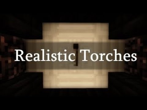 Realistic Torches in Minecraft Minecraft Concept
