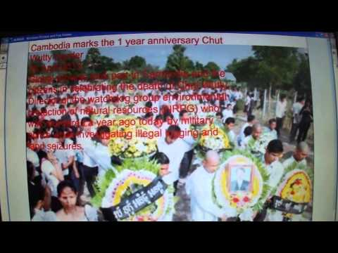 Cambodia Marks 1 Year Anniversary Of Chut Wutty's Murder 26th April 2013 video