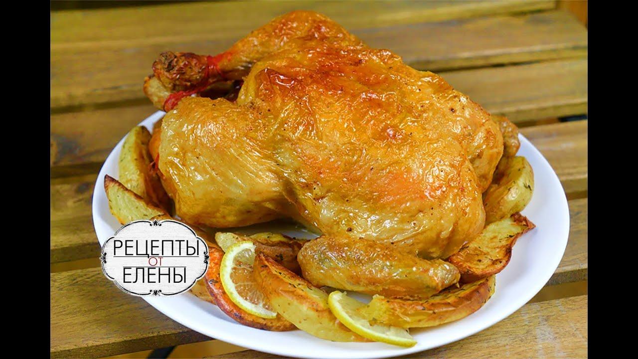 Курица в духовке с корочкой и лимоном рецепт