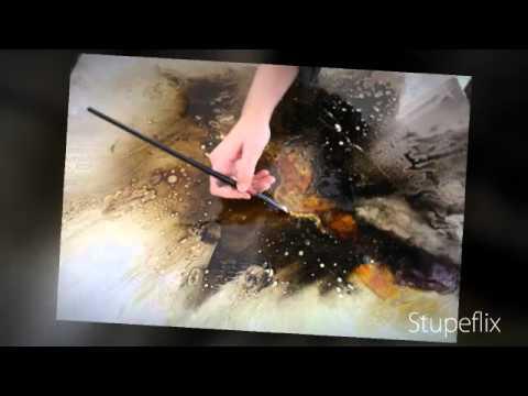 Cr ation d 39 une peinture abstraite par christelle romulus youtube - Tuto peinture abstraite contemporaine ...
