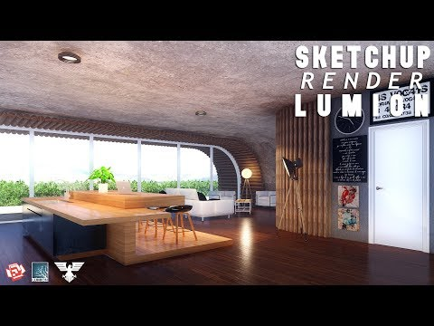 Lumion 6 Rendering Tutorials #48 - Modern Wood/Concrete House