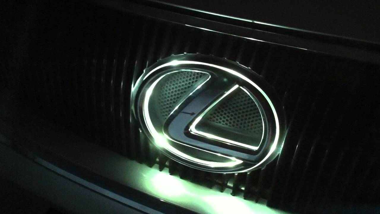 07 lexus gs 450h front led badge youtube