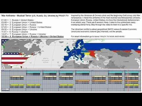 War Anthems - Musical Terror (US, Russia, EU, Ukraine) by Frazy.Tv