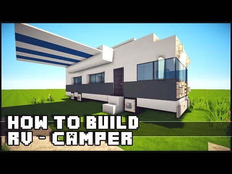 Minecraft Vehicle Tutorial How to Build : RV Camper