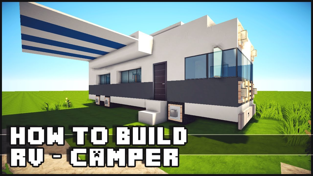 Minecraft vehicle tutorial how to build rv camper youtube