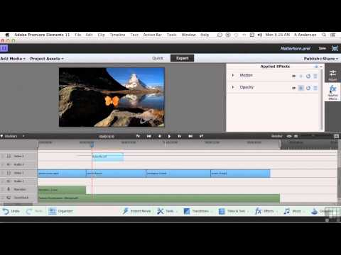 Adobe Premiere Elements 11 Tutorial | Adding Motion Graphics