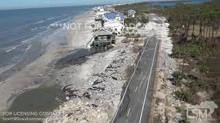 10-12-2018 Cape San Blas, Fl Hurricane Michael aftermath from Helicopter, roads destroyed aerial