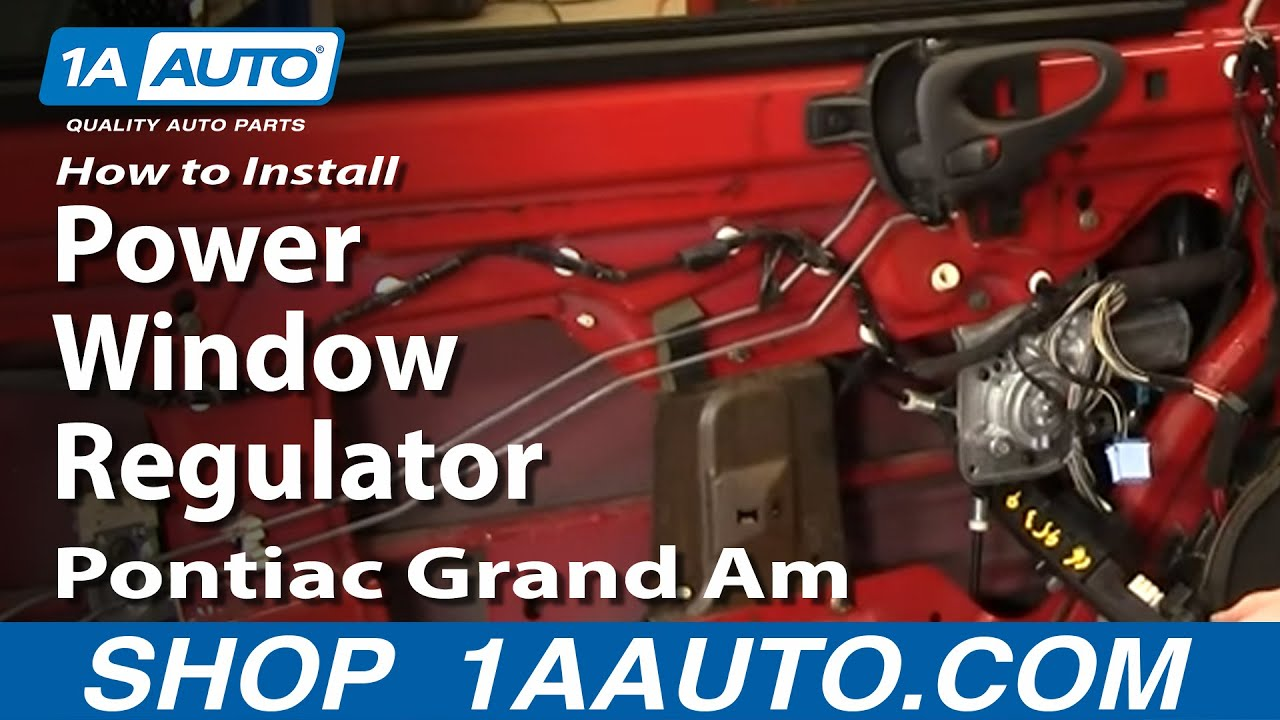 how to install replace power window regulator pontiac