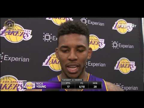 Swaggy P (Nick Young) Post game interview - Lakers vs Hawks