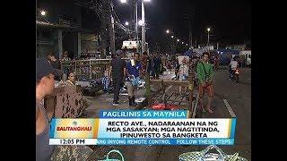BT: Recto Ave., nadaraanan na ng mga sasakyan; mga nagtitinda, ipinuwesto sa bangketa