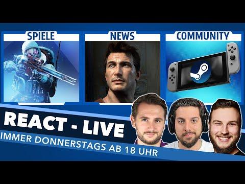 Das Steam-Handheld, PlayStation-Games auf PC/Mobile und EURE Themen - React Live ab 18:00 Uhr