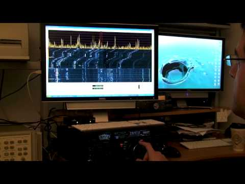Yaesu FT-2000 with RFSPACE SDR-IQ SPECTRUM SCOPE