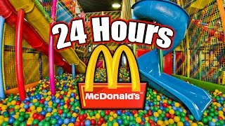 24 HOUR OVERNIGHT in MCDONALDS PLAYPLACE // LOCKED IN A MCDONALDS PLAY PLACE OVERNIGHT