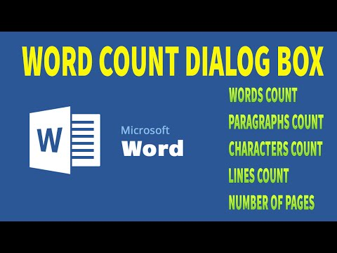MS Word - see the word count, character count, line count, and paragraph count
