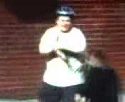 fat guy on bike pic. fat kid ike bail
