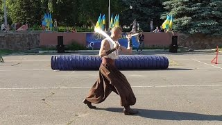 Martial arts of Ukraine: the traditional weapon of Cossacks.