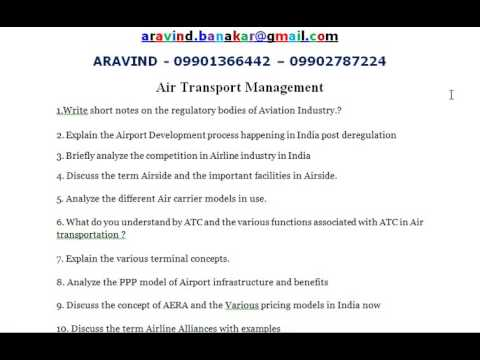 Air Transport Management - .Write short notes on the regulatory bodies of Aviation Industry.?
