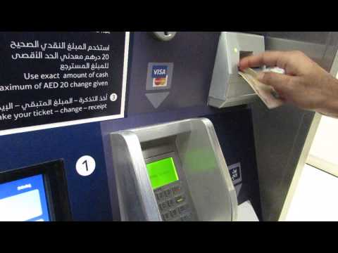 Buying a ticket in Dubai Metro Station