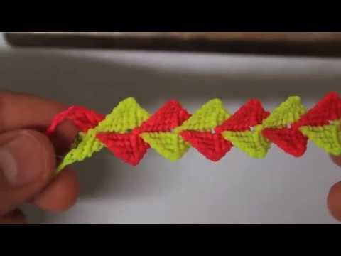 tutorial pulsera punto escama