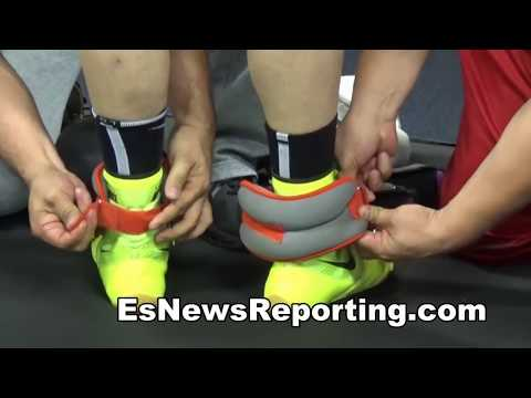 Julio Cesar Chavez Jr Boxing With Weights Floyd Mayweather Does Same - esnews boxing