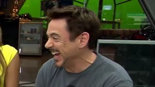 Robert Downey JR has the most adorable laugh (WITH PROOF)