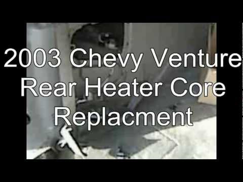 2003 Chevy venture rear heater core replacement