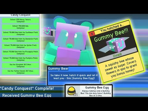 UNLOCKING *NEW* GUMMY BEE!!!! Completing all GOO quests!! - Roblox bee swarm simulator