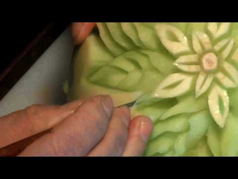 January 17 Honeydew Fruit Carving