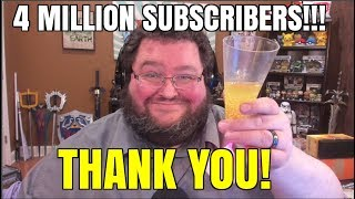 THANK YOU FOR 4 MILLION SUBSCRIBERS!!!