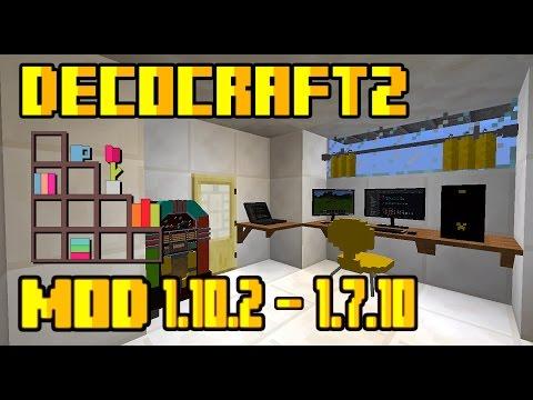 DecoCraft 2| Decoraciones Alucinantes| Para 1.10.2 – 1.7.10 | Mod Review En Español