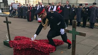 The Duke of Sussex opens the Field of Remembrance