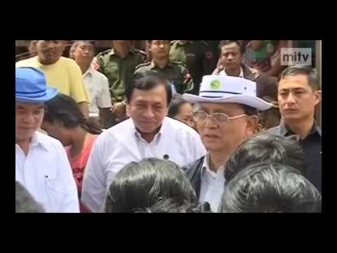 mitv - President In Kalay: Rehabilitation For Flood-hit Areas