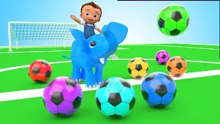Learning Kids Colors with Baby Play with Elephant Colours Soccer Balls Children Toddlers Educational