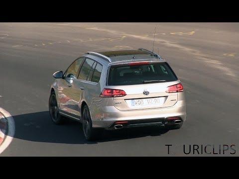2015 Volkswagen Golf R Estate spied testing on the Nürburgring!