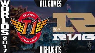 SKT vs RNG Highlights ALL GAMES - Worlds 2017 Semifinals SK Telecom T1 vs Royal Never Give Up Up