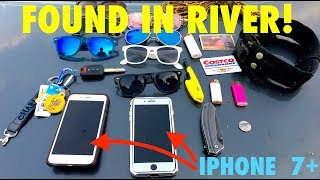 Found 2 iPhone 7's, Pocket Knife, and Charles' Car Keys While Snorkeling in the River!