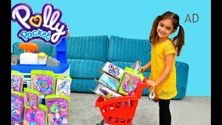 Polly Pocket Toy Sets - Emily Doing Shopping
