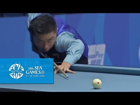 Billiards - Myanmar vs Indonesia (Day 1) | 28th SEA Games Singapore 2015