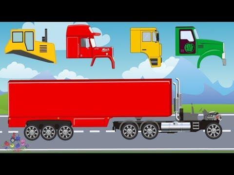 Wrong Head Truck | Street Vehicles for Children | Tow Truck, Dump Truck, Bulldozer | Video For kids