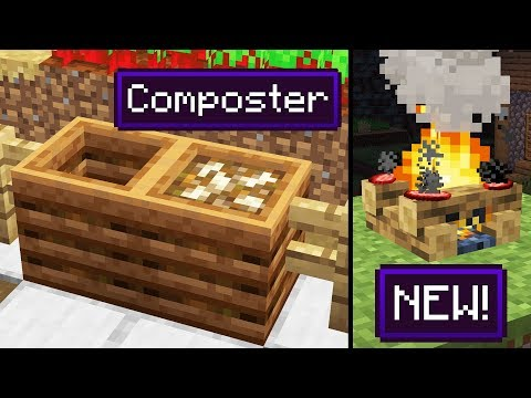 NEW Composter Block! New Sounds! Campfire Update (Minecraft 1.14 Snapshot)