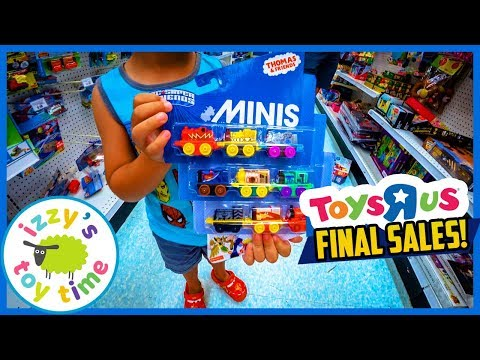 TOYS R US FINAL SALES! Shopping for Toy Cars and Toy Trains and LEGO including Thomas and Hot Wheels