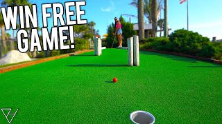 Win A Free Game With A Mini Golf Hole In One!