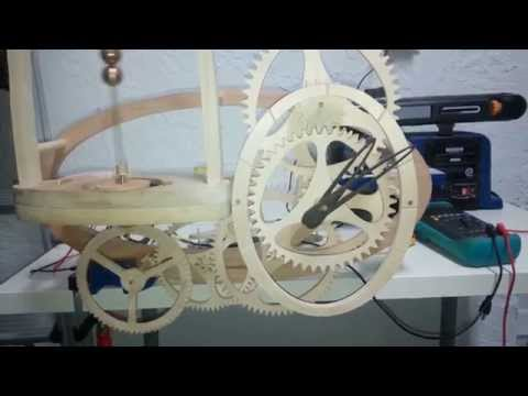 Fully Functional Conical Wooden Clock wood -not finished-