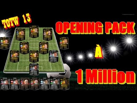 FIFA FUT 15 FR - Opening Pack Français à 1 Million de Crédits - TOTW semaine 13