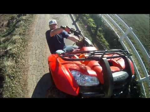 Honda Rancher Wheelies, Drifting, Getting Rad.. GoPro HD