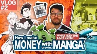 MAKING MONEY WITH DRAWING MANGA !! [VLOG] [#02]