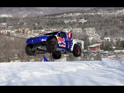 900-Horsepower truck goes on ski slope