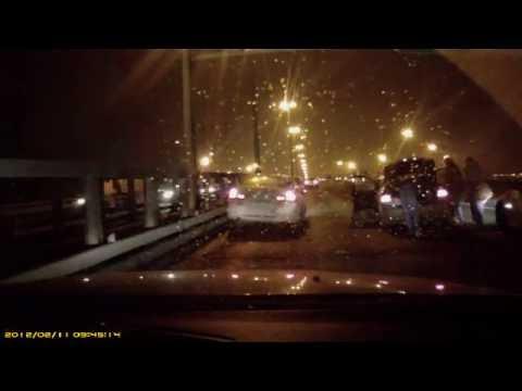 Авария на КАД в Петербурге 21 ноября 2013 года