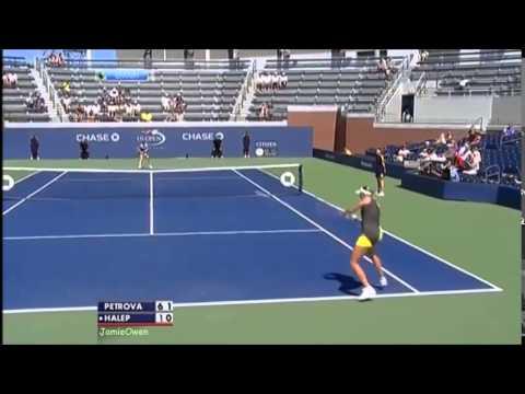 Nadia Petrova vs Simona Halep 2012 US Open Highlights