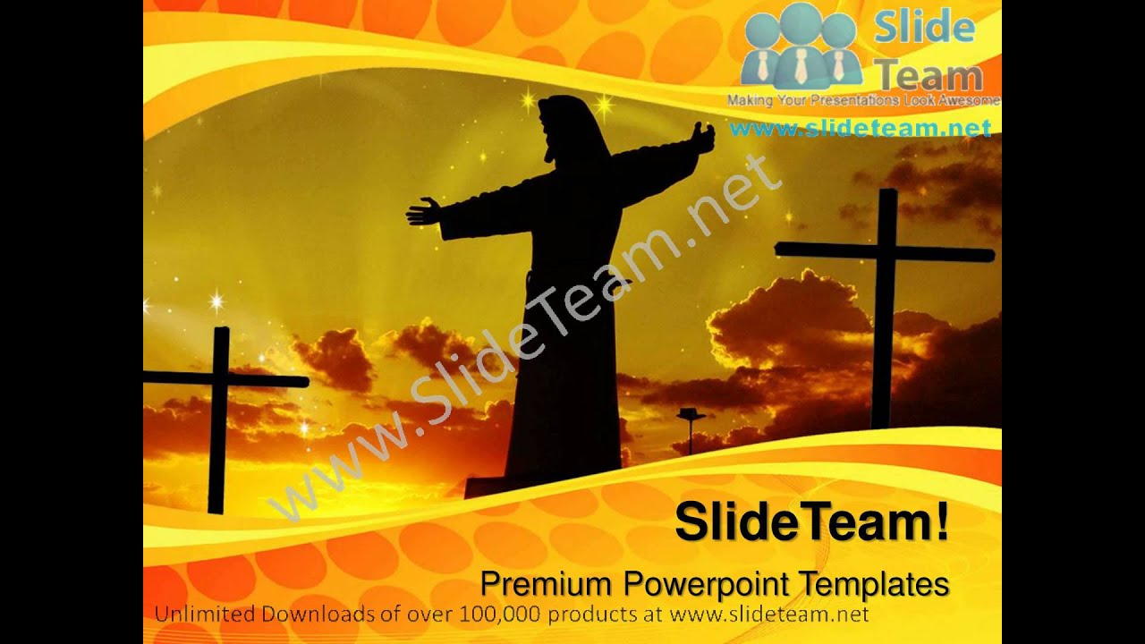 Resurrection of Jesus PowerPoint Template Backgrounds